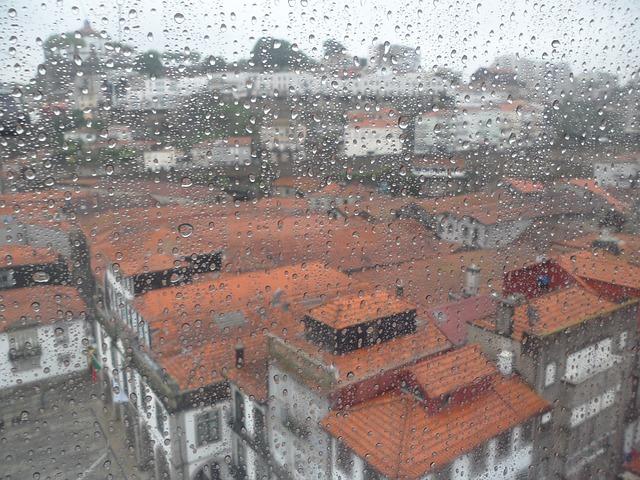 déšť na okně