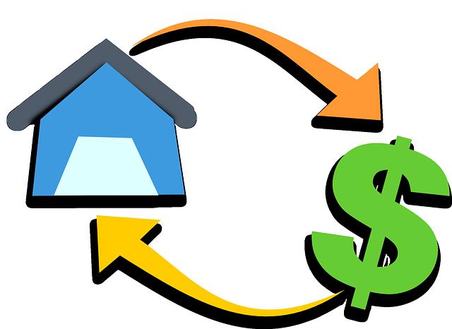 dům a zelený dolar